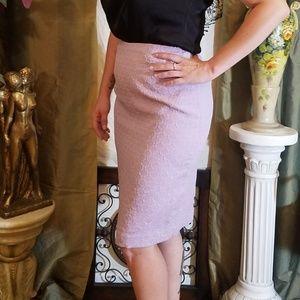 Lilac pencil skirt
